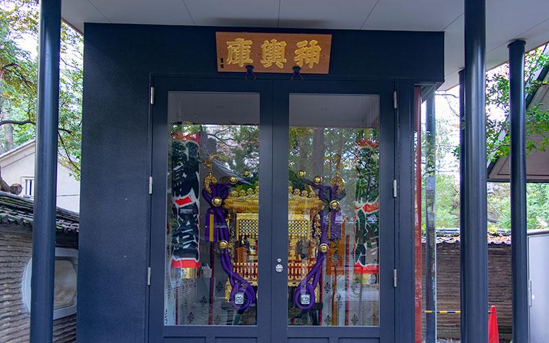 赤坂氷川神社の神輿庫