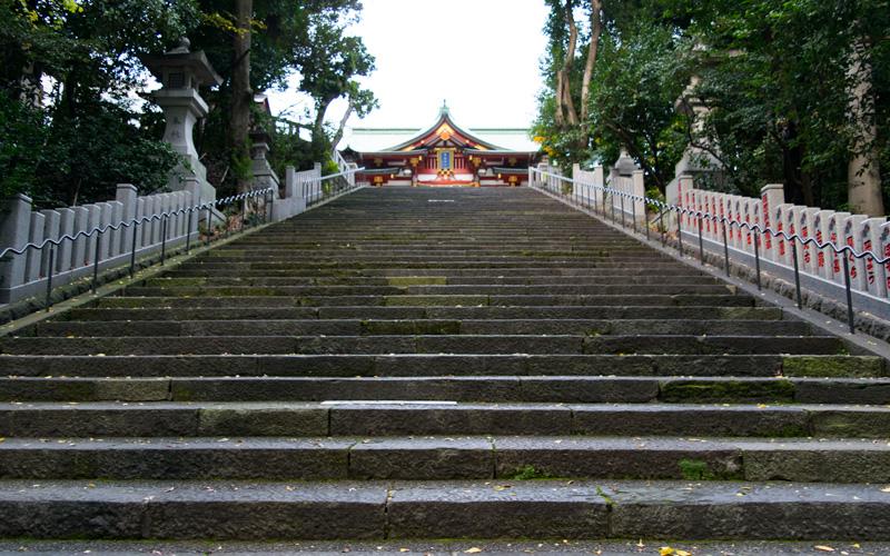 日枝神社の参道(階段)