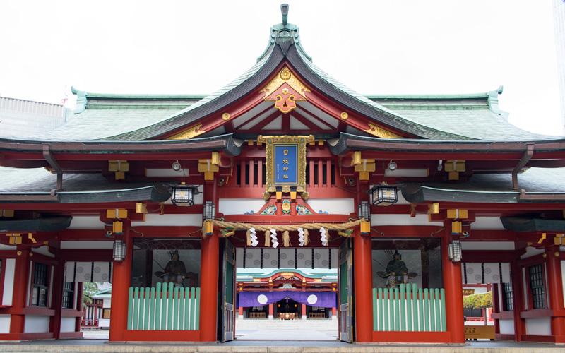 日枝神社の隋神門