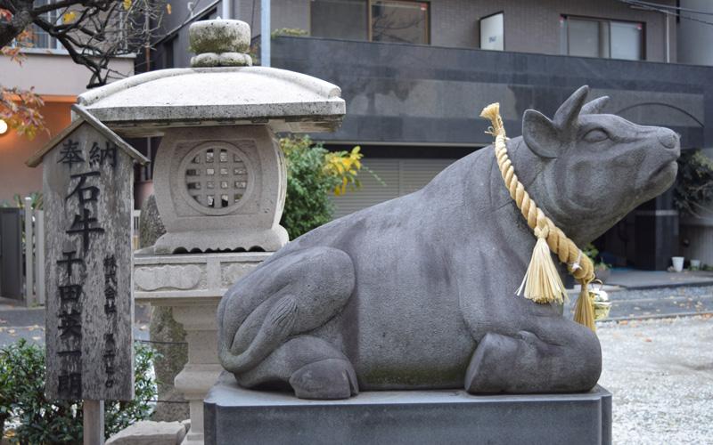 平河天満宮の石牛