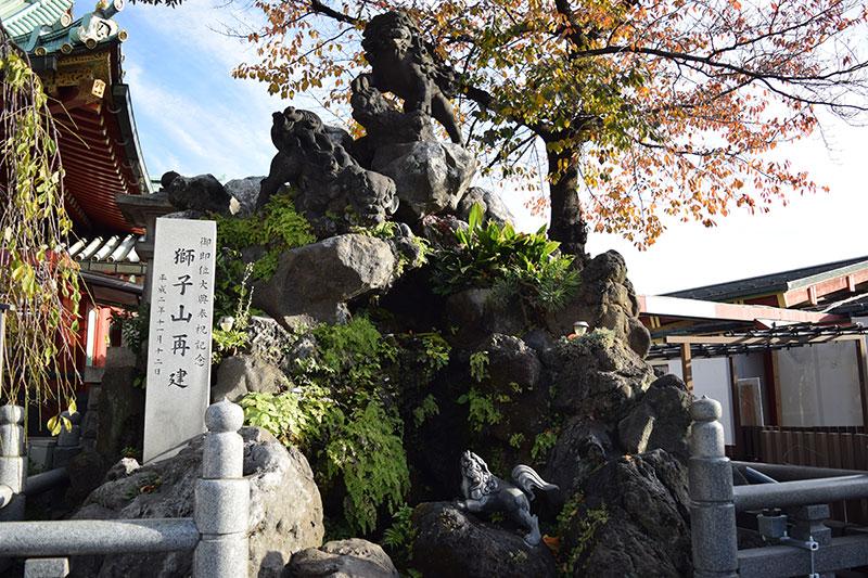 神田神社の獅子山