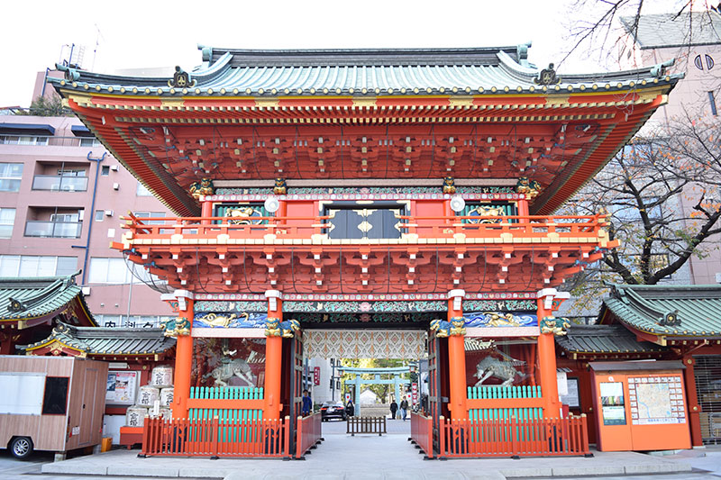 神田神社の隋神門裏