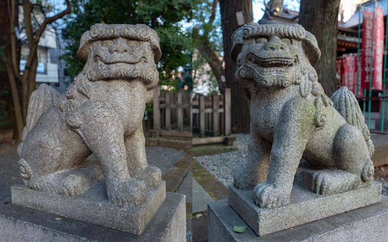 金王八幡宮の御嶽神社の狛犬
