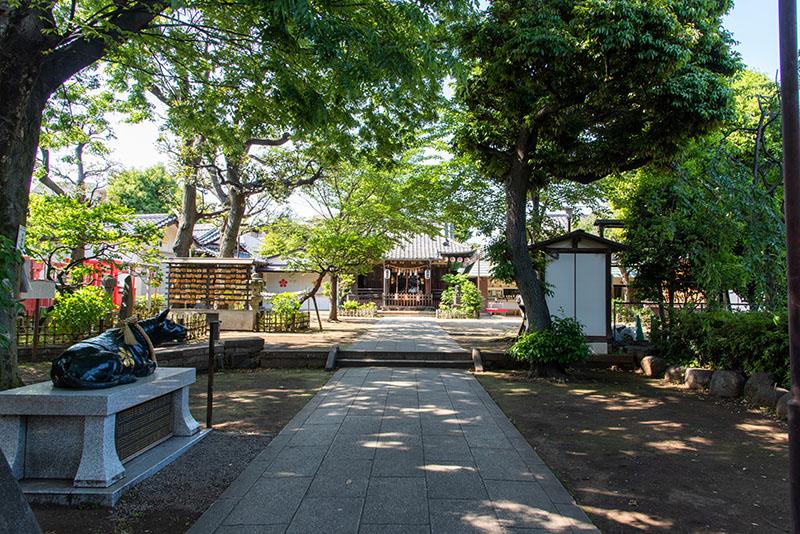 新井天神北野神社 参道