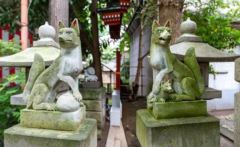 江東天祖神社 太郎稲荷神社の狐