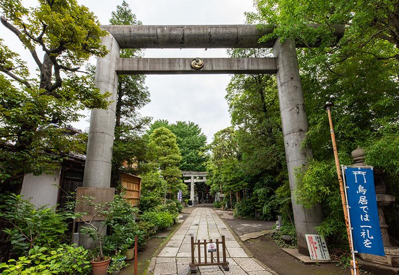 江東天祖神社の鳥居