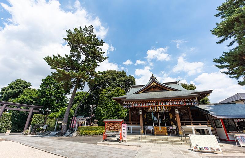 沼袋氷川神社拝殿2