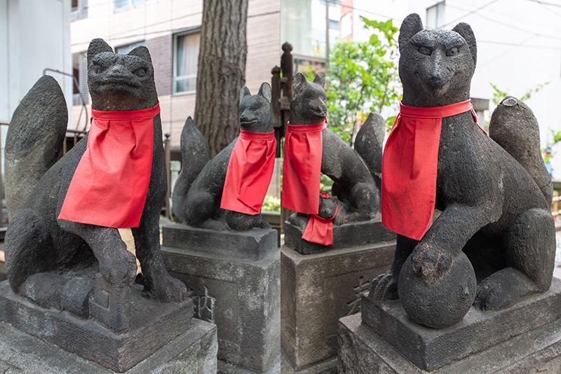 銀杏稲荷神社 狐
