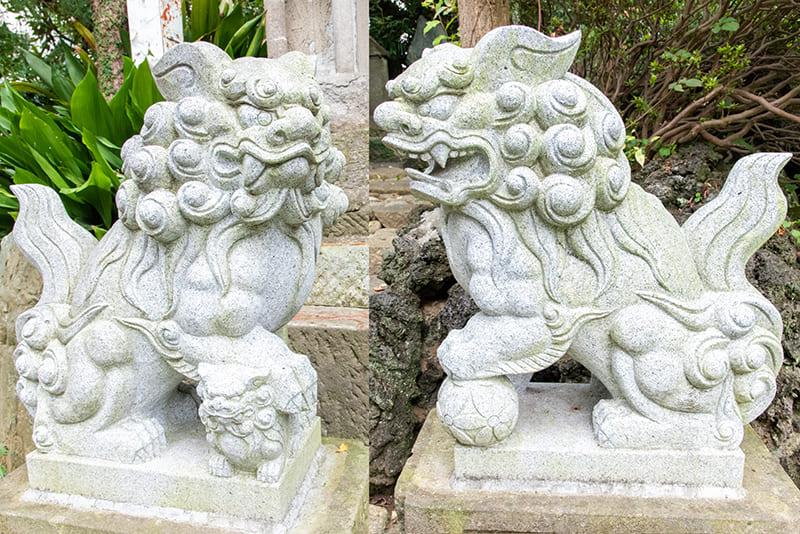小岩神社 日枝神社 浅間神社 狛犬