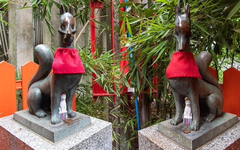 小岩神社 稲荷神社きつね