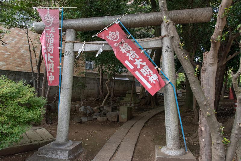 松ヶ丘北野神社 稲荷大明神鳥居