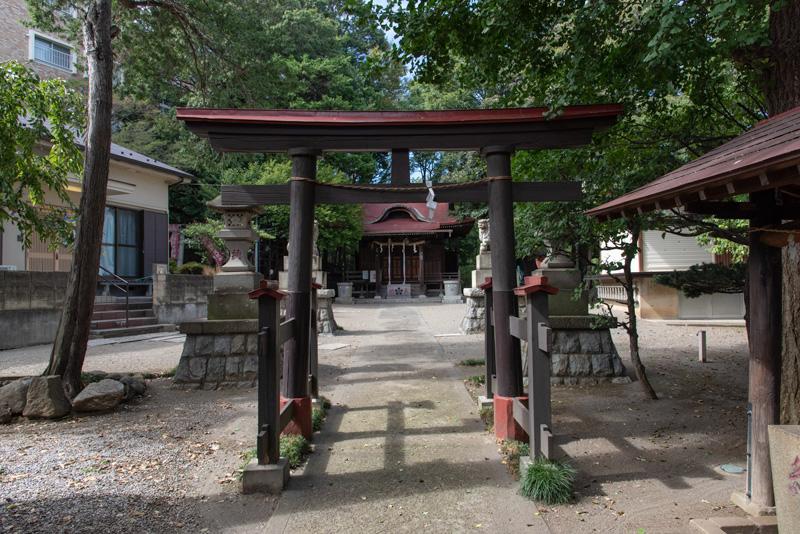 松ヶ丘北野神社 鳥居2