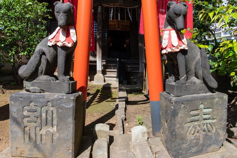 品川神社 阿那稲荷神社 きつね