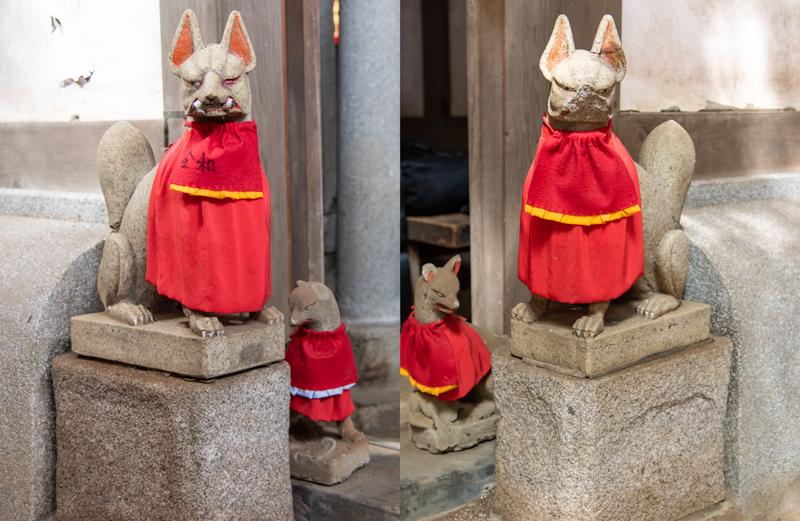 品川神社 阿那稲荷神社 きつね2