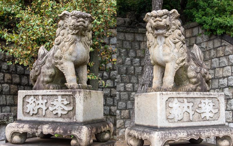 品川神社 入り口鳥居前の狛犬