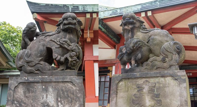 品川神社 拝殿前の狛犬