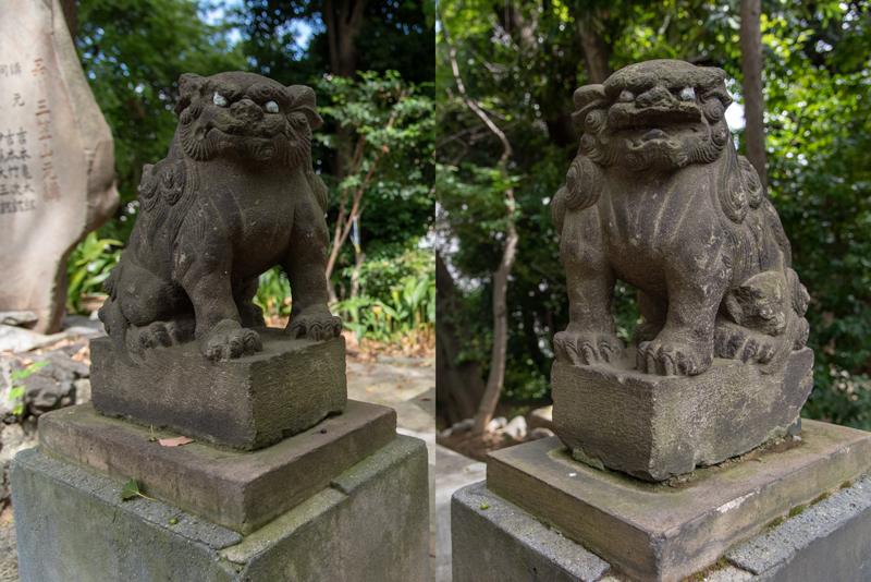 品川神社 御嶽神社狛犬