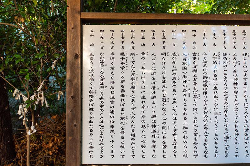 王子神社 おみくじ神歌47