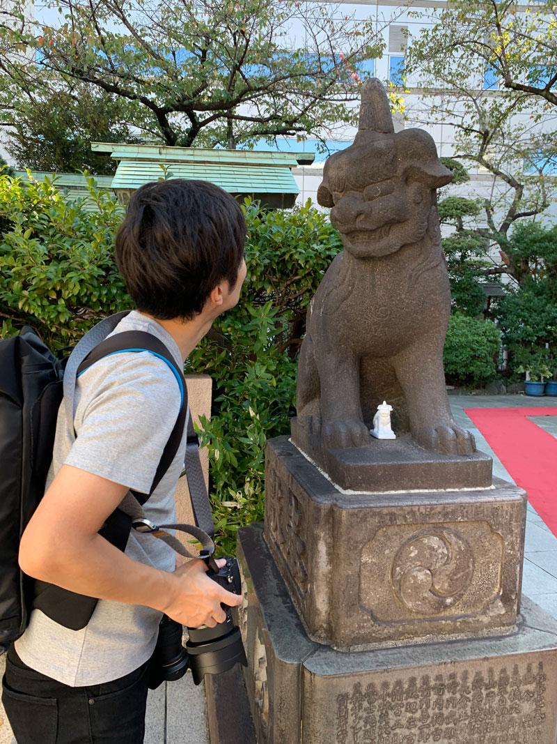 芝大神宮 狛犬前