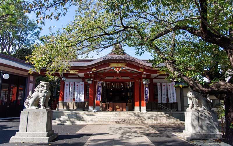 旗岡八幡神社 拝殿