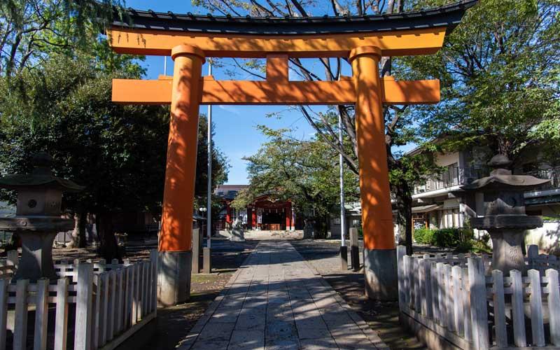 旗岡八幡神社 鳥居