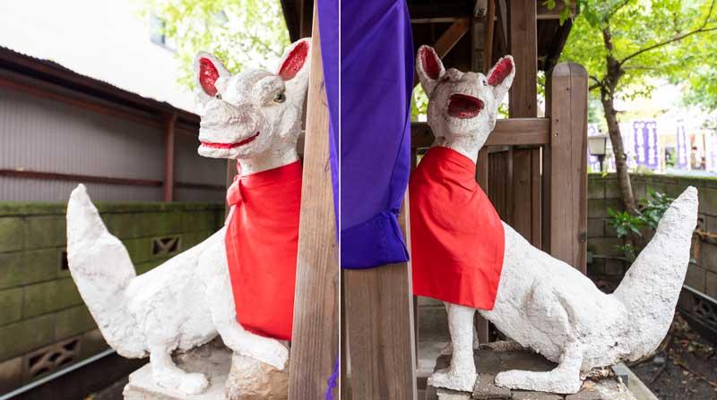 蛇窪神社 天祖神社 稲荷大明神狛犬