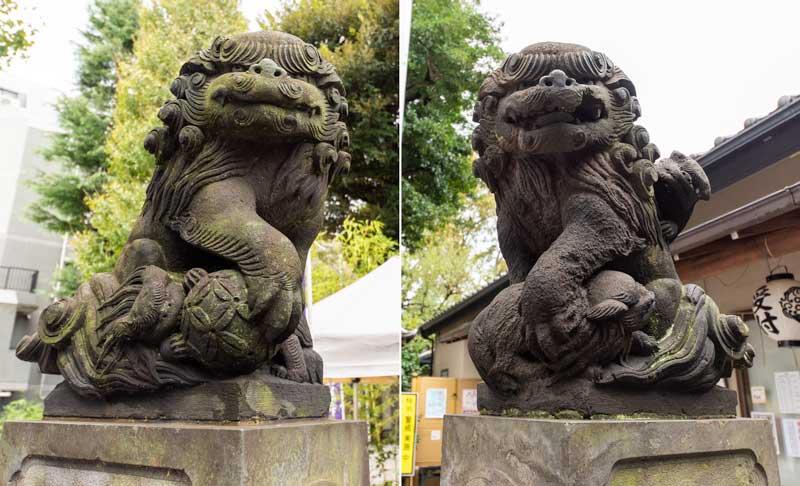 蛇窪神社 天祖神社 狛犬