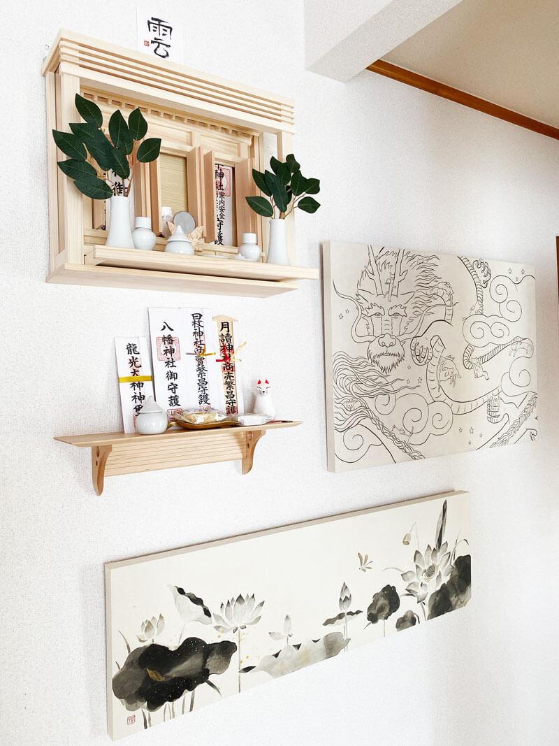神棚 神楽 日本画