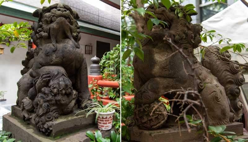 三崎稲荷神社 狛犬