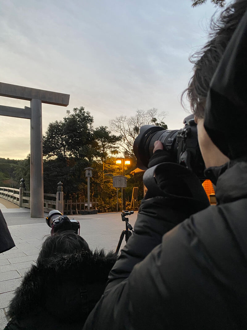 伊勢神宮 内宮 日の出を撮る