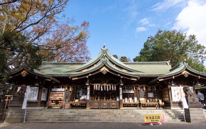 検見川神社 拝殿
