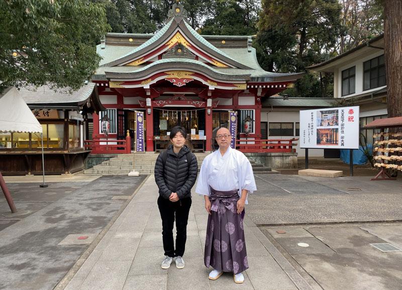 清瀬市 日枝神社 宮司さん