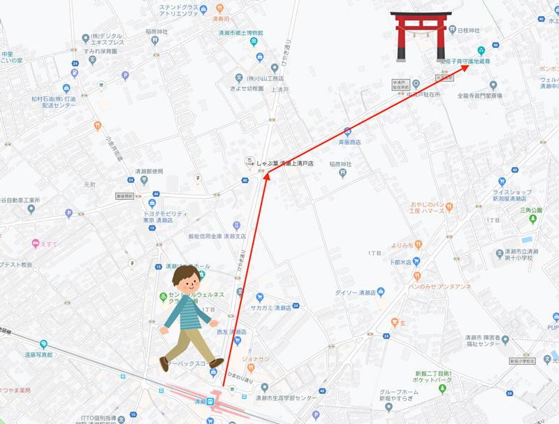 清瀬市 日枝神社 マップ