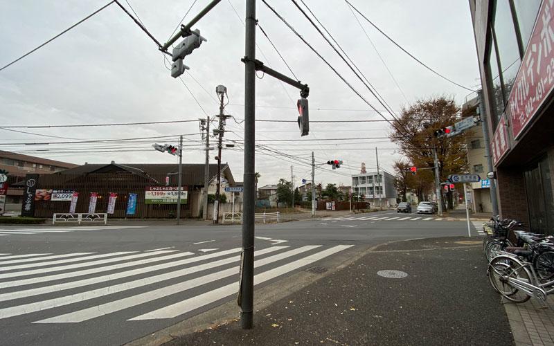 清瀬市 日枝神社 交差点