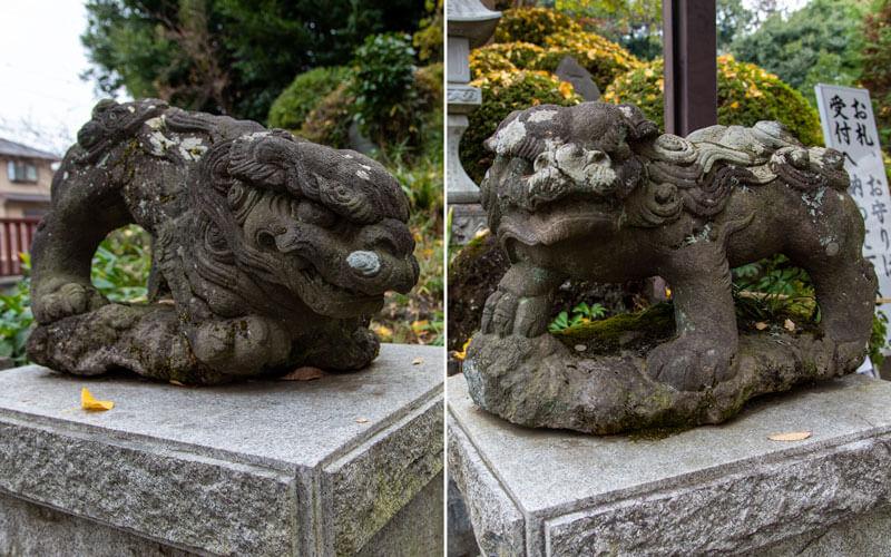 清瀬市 日枝神社 御嶽神社狛犬