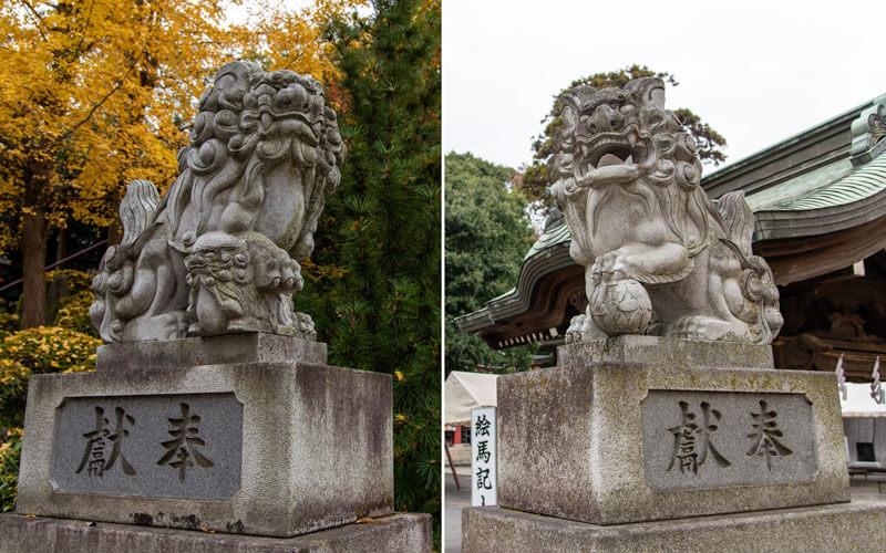 清瀬市 日枝神社 水天宮狛犬
