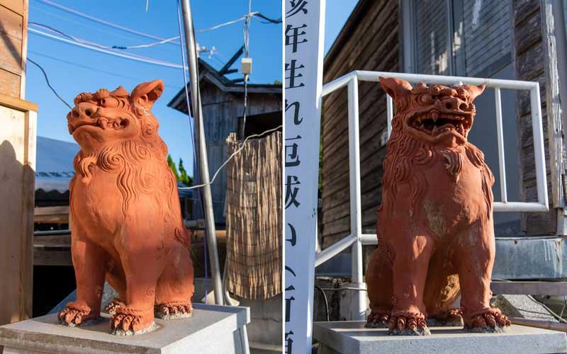 沖宮 拝殿狛犬