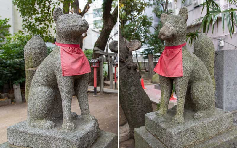 千代森神社 狐