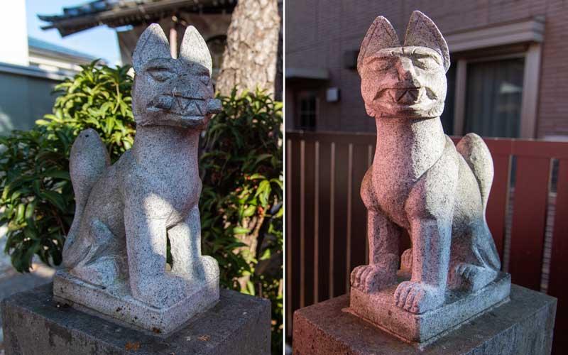船橋東照宮 御殿稲荷神社 狐