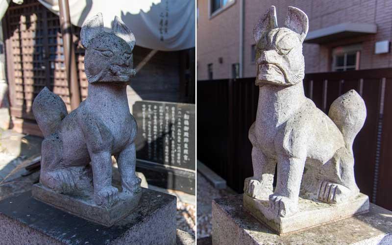船橋東照宮 御殿稲荷神社 拝殿前狐