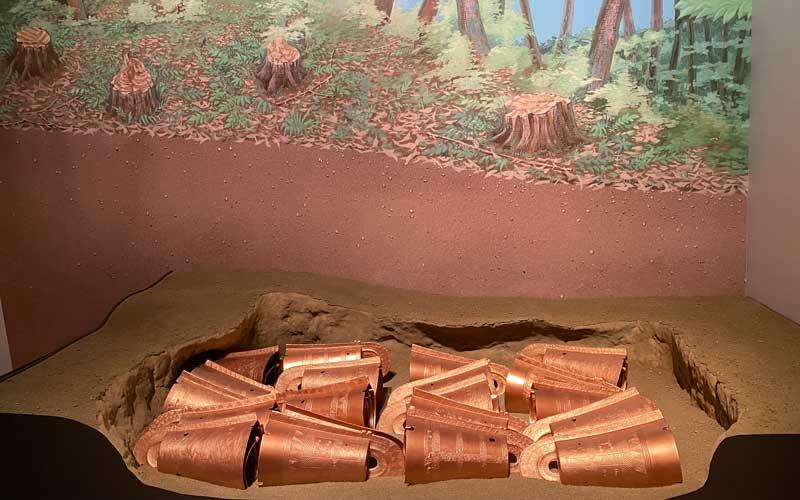 出雲と大和 加茂岩倉遺跡模型