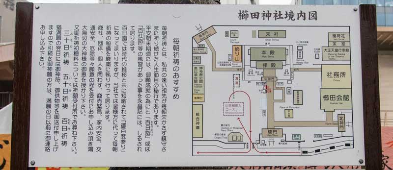 櫛田神社 境内案内図