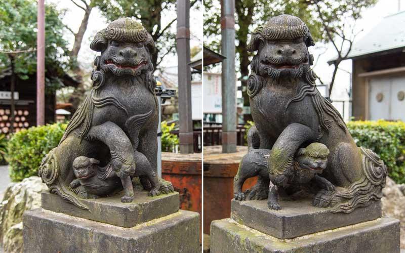 七社神社 狛犬