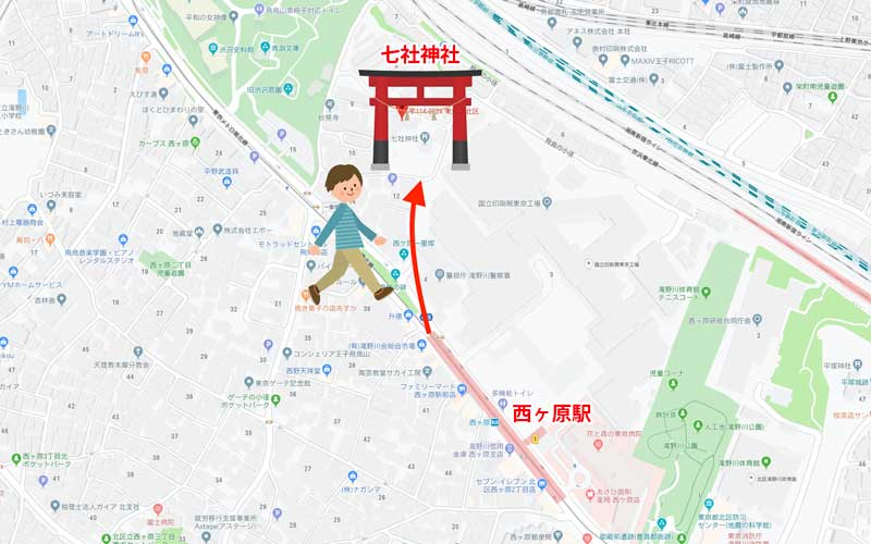 七社神社までの道のり