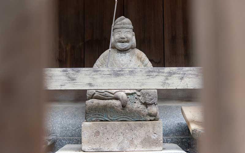 十日恵比寿神社 本殿裏 恵比寿様