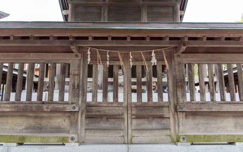 十日恵比寿神社 本殿裏
