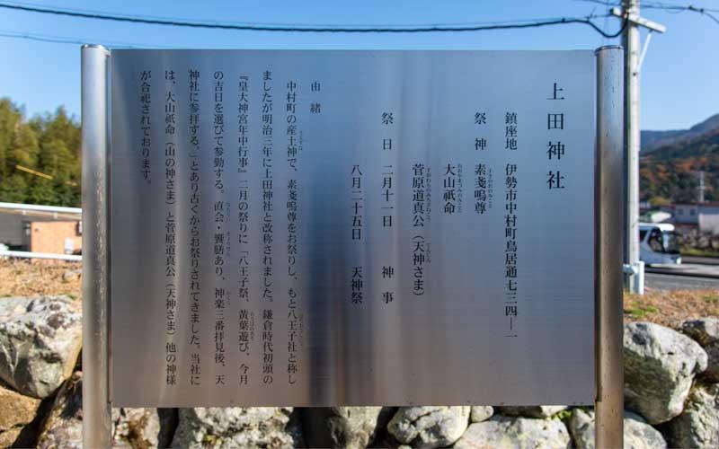 上田神社 御由緒