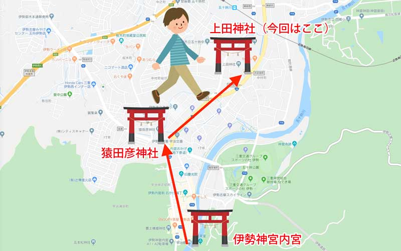 上田神社 マップ