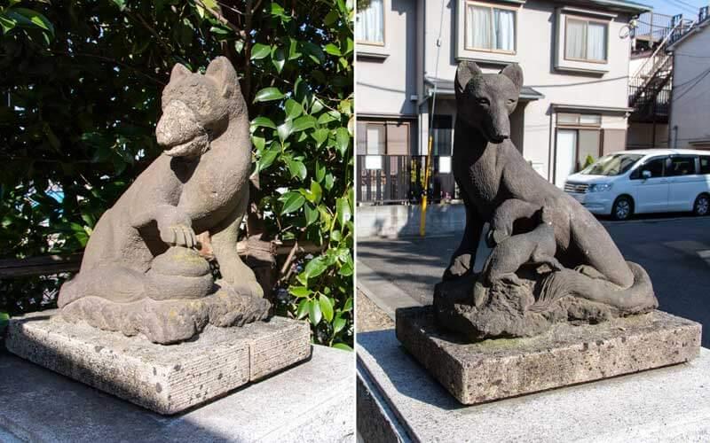 赤城神社 稲荷神社の狐