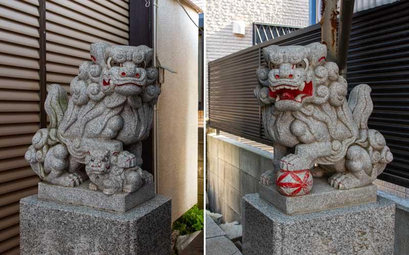 池立神社 狛犬